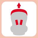 成長型頭頸肩連動式調整系統